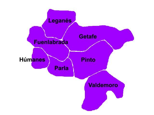 El mapa poltico del sur madrileo en su   SER Madrid Sur